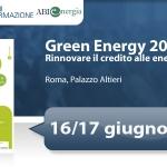 "Primo Forum ""Green Energy: rinnovare il credito alle energie rinnovabili"""