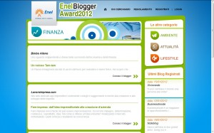 enel blogger award 2012